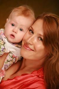 Евгения Артемьева с дочкой Аней