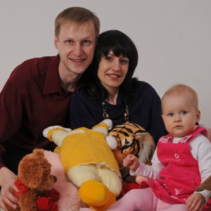 Ирина с мужем и дочкой