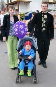 Наталья с мужем и сыночком