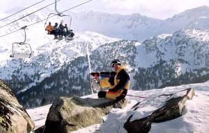 Настя на лыжах (во время свадебного путешествия в Андорре)