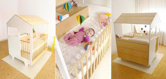 Дизайн интерьера детской комнаты: домик в домике для новорожденного