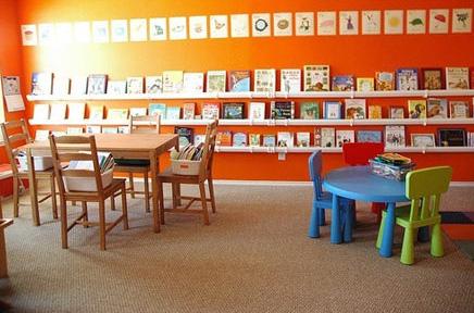 Фото детских комнат: библиотека