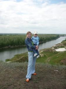 С сыном Артемкой