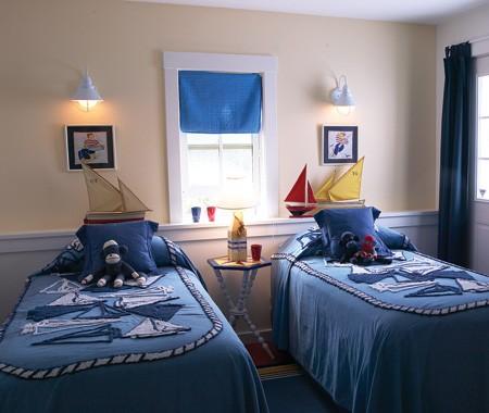 Морская тема в оформлении комнаты для мальчика