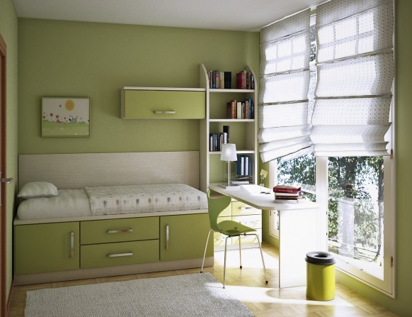Яблочная комната для подростка