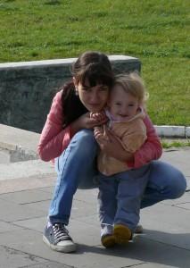Оксана с дочкой Машенькой
