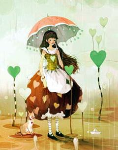А в октябре... дождь и другие приятные события (иллюстрация к Алисе)