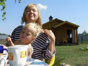 Ирина с дочкой