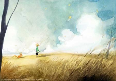 Первая Осенняя Иллюстрация к Маленькому Принцу