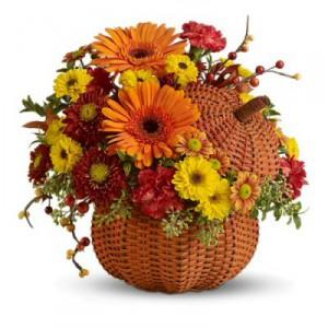 Осенние цветы - поздравляем с Днем Учителя!