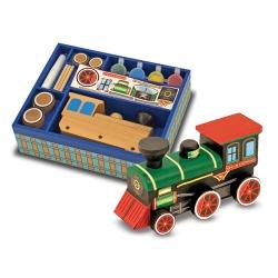 """Деревянный паровозик """"Сделай сам"""", набор для детского творчества"""