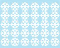 """Наклейка для детской комнаты """"Белые снежинки"""""""
