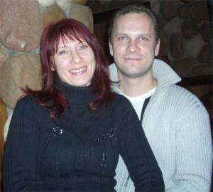 Ангелина с мужем