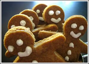 Рождественское печенье имбирные человечки