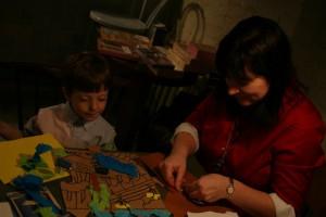 Елена с сыном Гришей