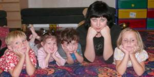 Ира с детьми