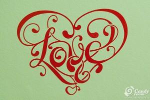 Наклейка на стену «Love» от Candy room