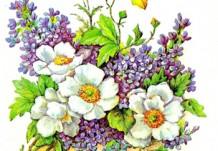 """Открытка """"С Днем 8 Марта!"""" Весенние цветы"""