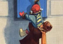 """Открытка """"Поздравляем с 8 марта!"""". Художник И.М. Семенов. Открытка 1956 г."""