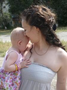 С дочуркой