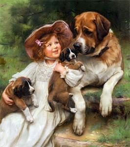 Ребята и зверята, Which May I Keep, художник Arthur John Elsley