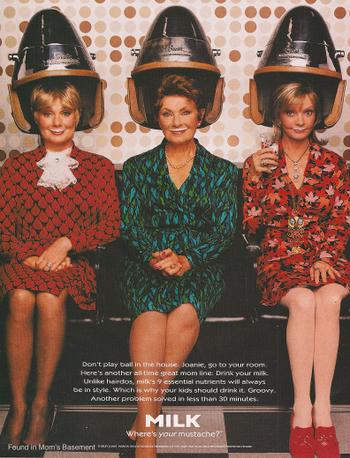Реклама на блоге. Винтажная реклама 'Got milk?', 1998 год