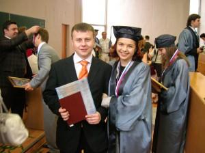 В 2007 году мы с Ромой стали обладателями красных дипломов Государственного Университета Управления
