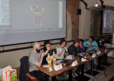 Московский Международный Открытый Книжный Фестиваль - пресс-конференция в кафе ПирОГИ