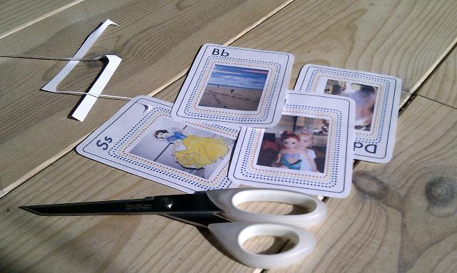 Самодельные карточки с алфавитом