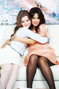 Тина Канделаки с дочкой Меланией