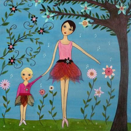 Sascalia, Dancing Ballerina Mother and Child