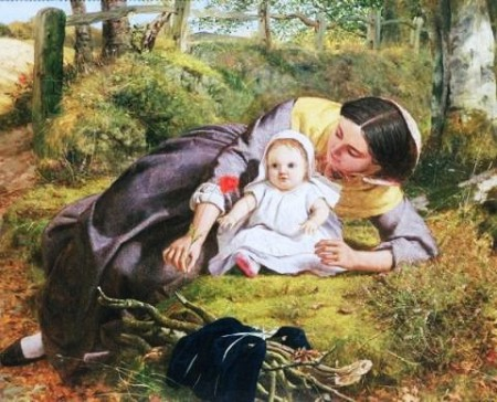 Frederick Richard Pickersgill, Mother and Child with a Poppy