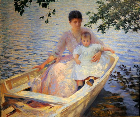 Edmund Charles Tarbell, Mother and Child in a Boat, 1892