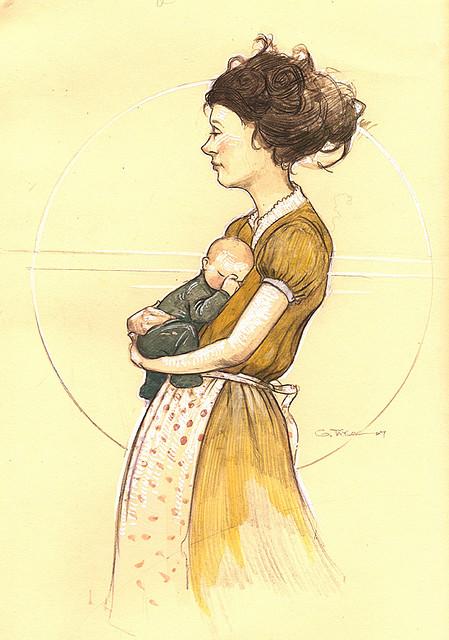 Garrett R.Taylor, Woman and child