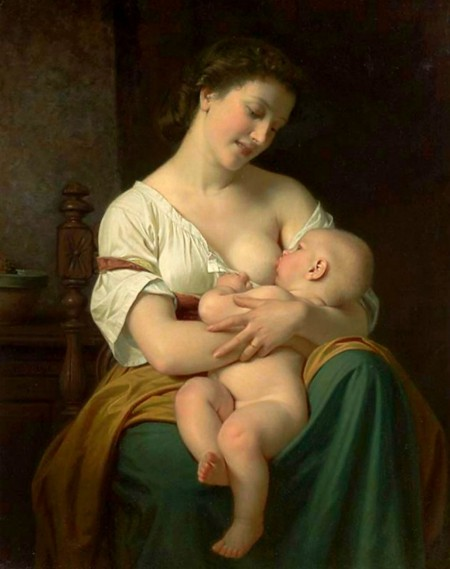Mother and Child by Hugues Merle