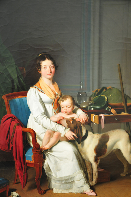 Neue Pinakothek, Interior with Mother and Child