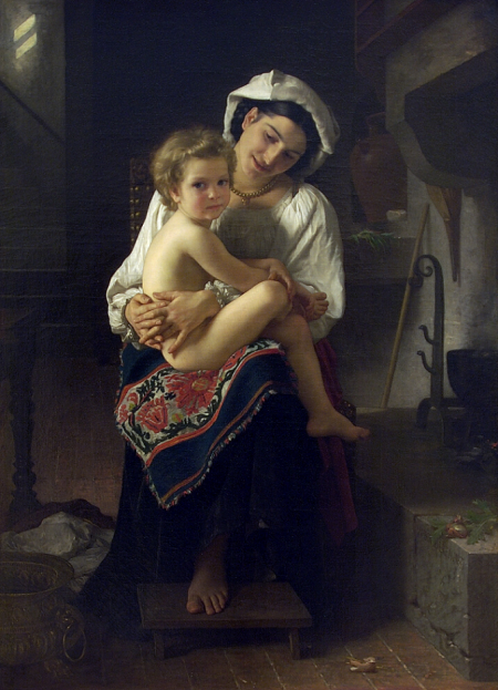 William-Adolphe Bouguereau, Young Mother Gazing At Her Child