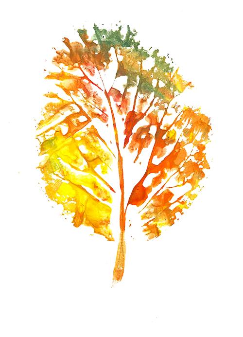 А если взять лист побольше, то из такого отпечатка получится самое настоящее дерево!