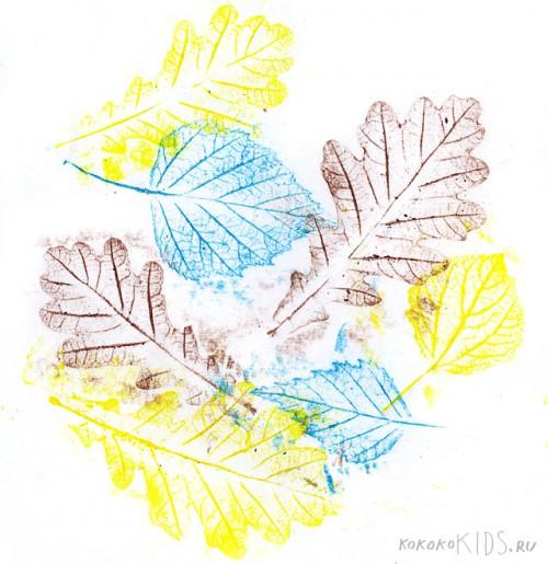 Интересная техника для поделок с осенними листьями