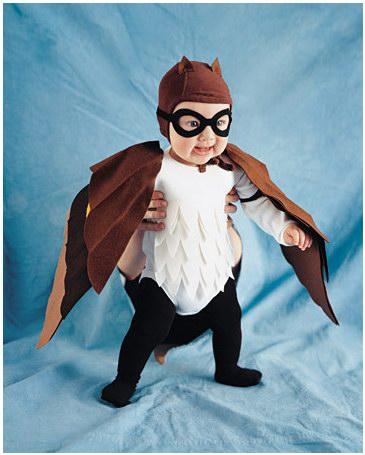 Детские костюмы на Хэллоуин: совенок из фетра
