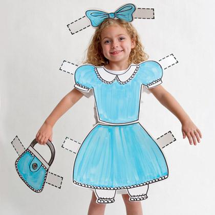 """Легкий костюм из бумаги для девочки - кукла """"Мальвина"""""""