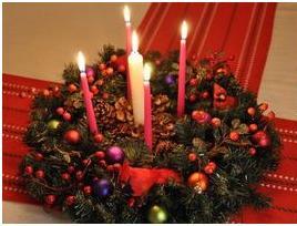 Венок адвента - 5 свечей