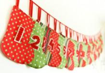 Гирлянда из носочков и рождественский календарь - два в одном