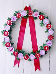 Рождественский венок + адвент-календарь