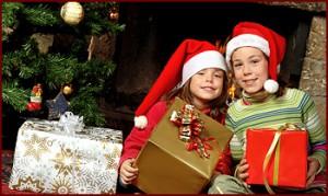 Подарки детям на Рождество