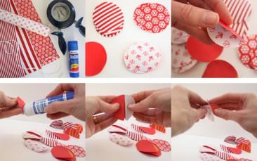 Круглая eco-гирлянда из бумаги: изготовление