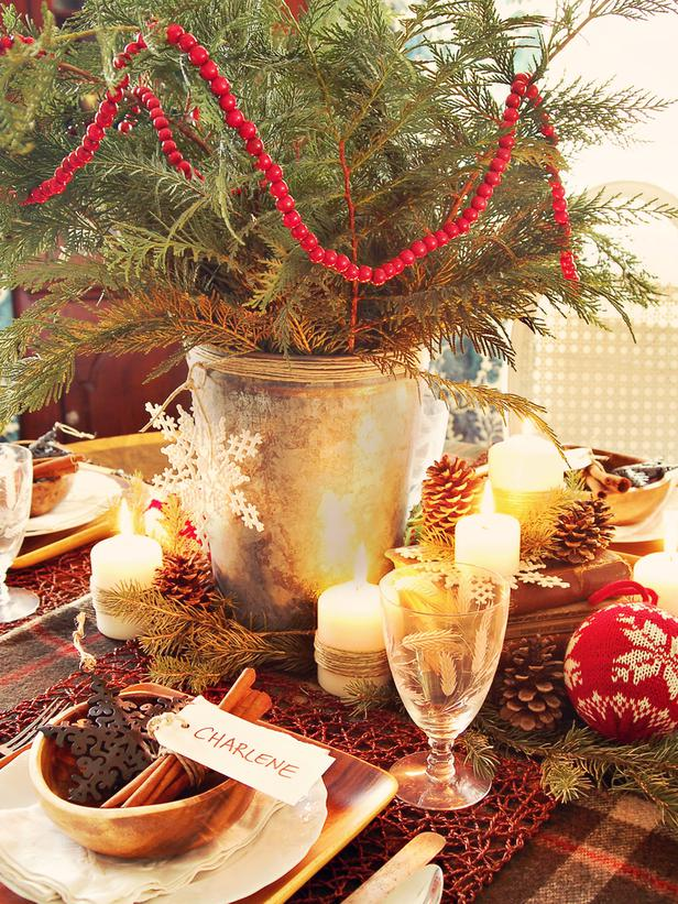 Оформление стола в рустикальном стиле