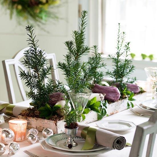 Рождественское оформление стола