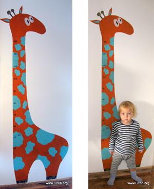 Жираф-ростомер от Лизы