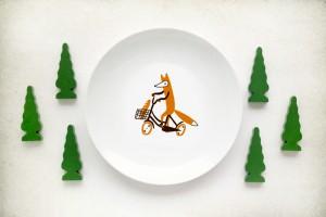 Тарелка с лисенком от ko-ko-ko